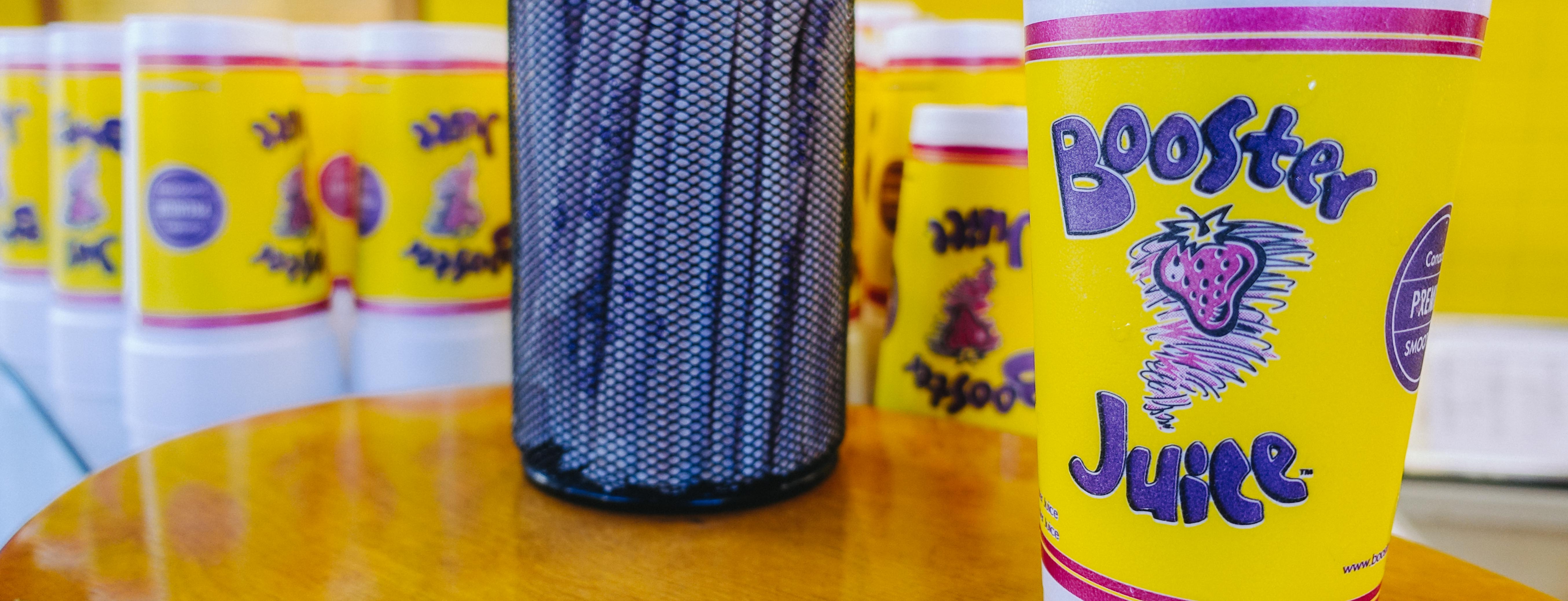 a Free birthday drink from Booster Juice