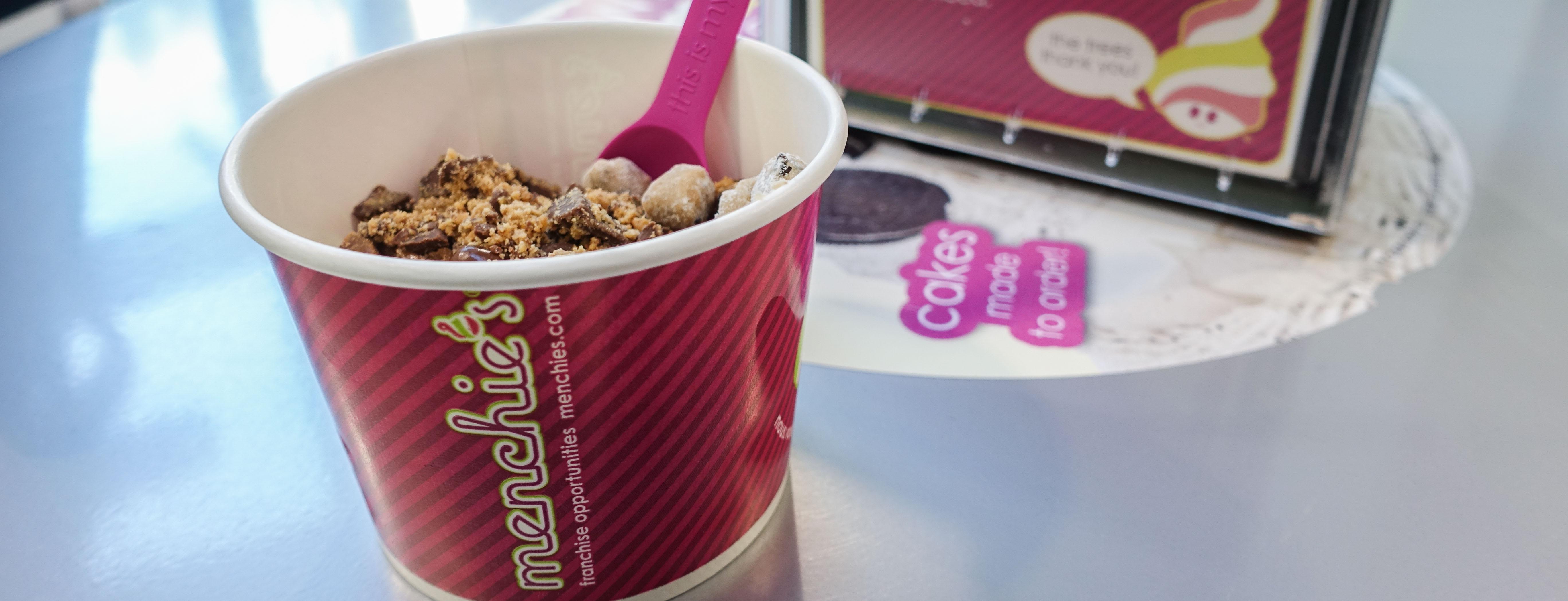 a free birthday munchies frozen yogurt cup