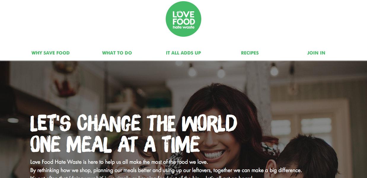 Love food, hate waste Website