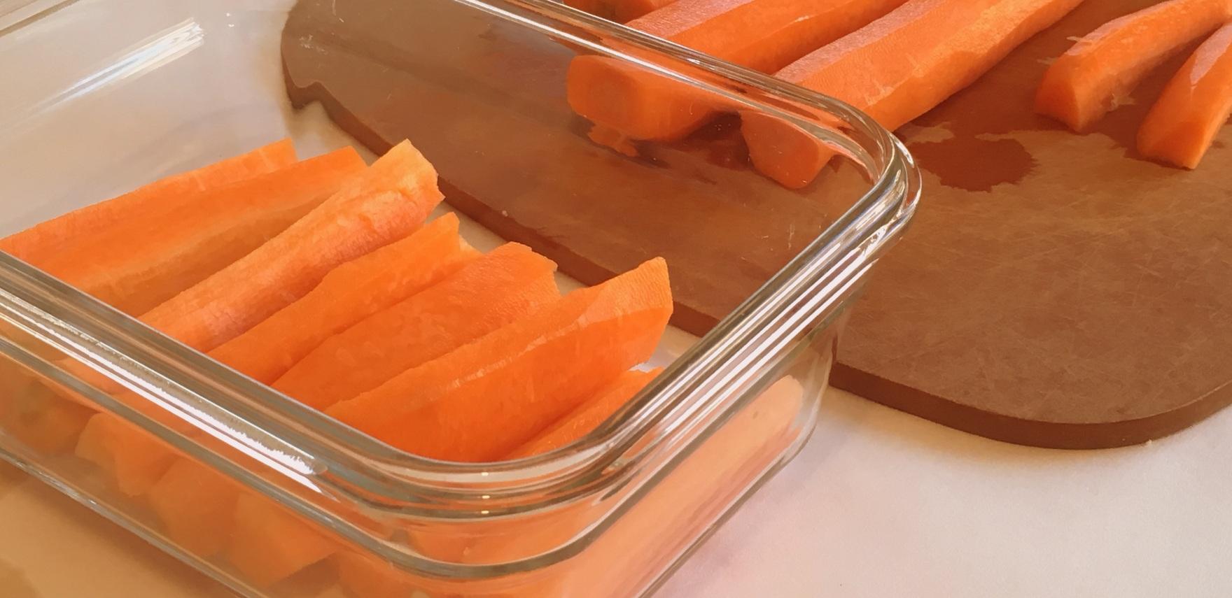 carrots cut up