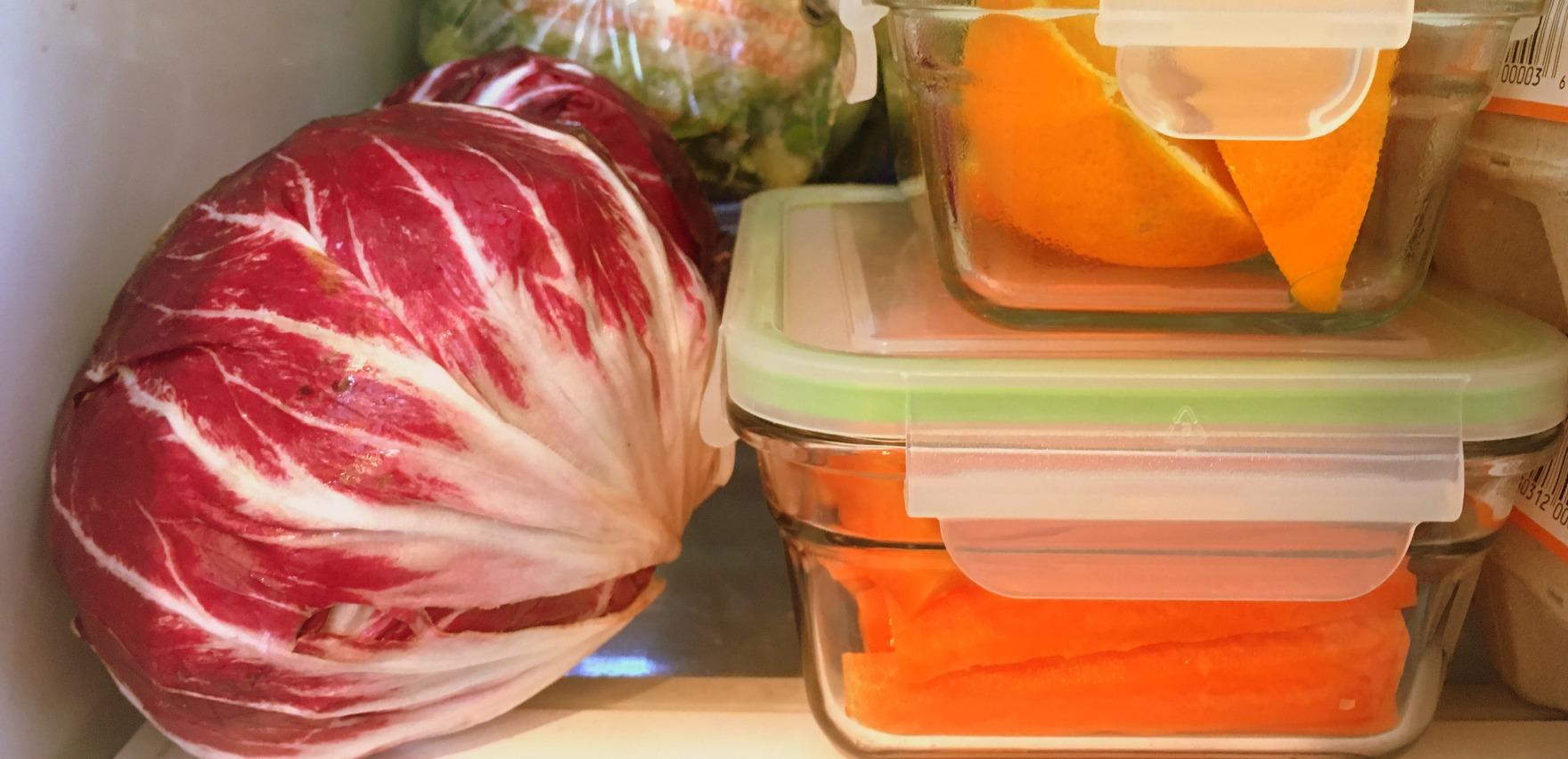 produce in fridge