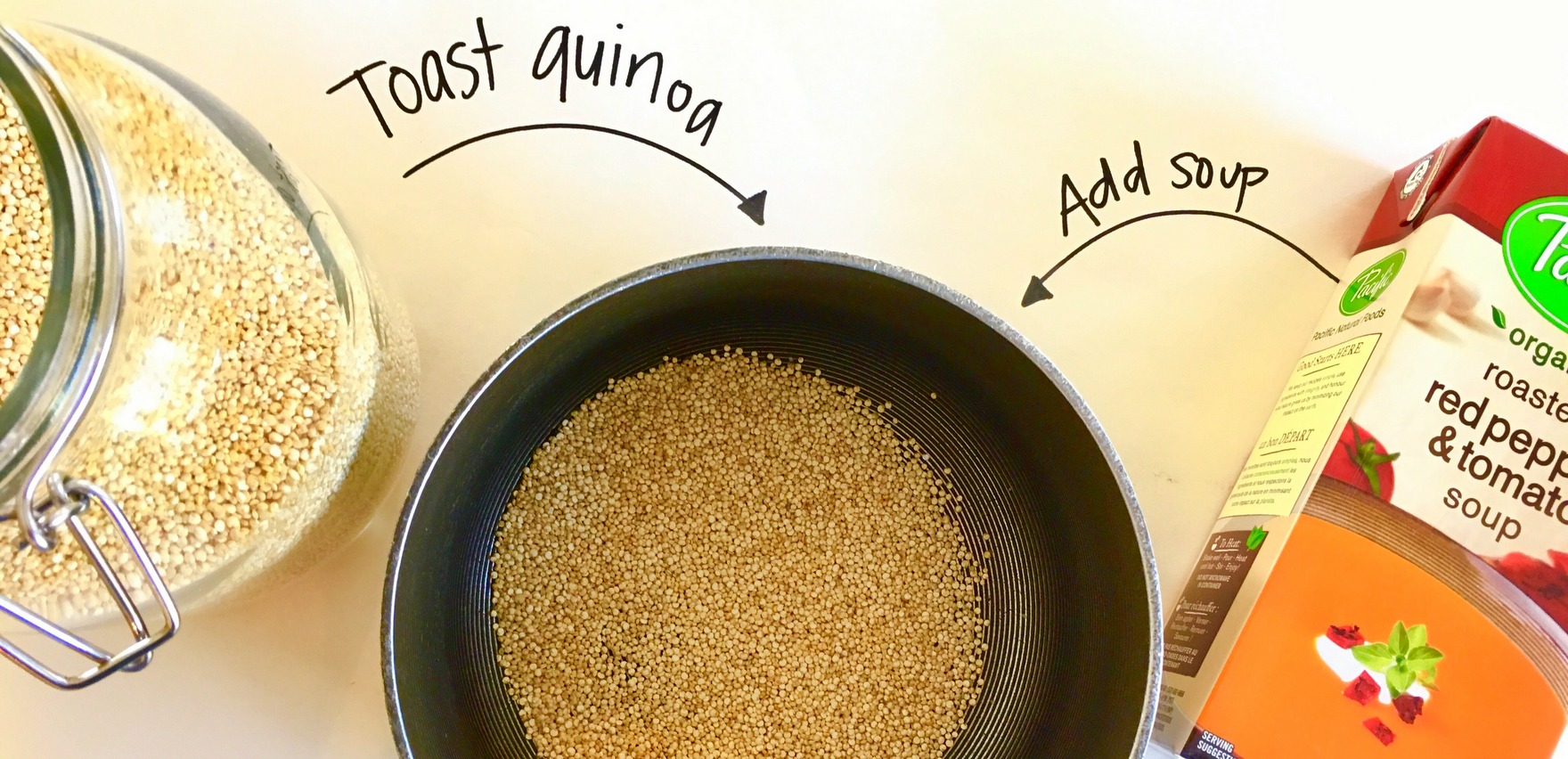 Soup with quinoa