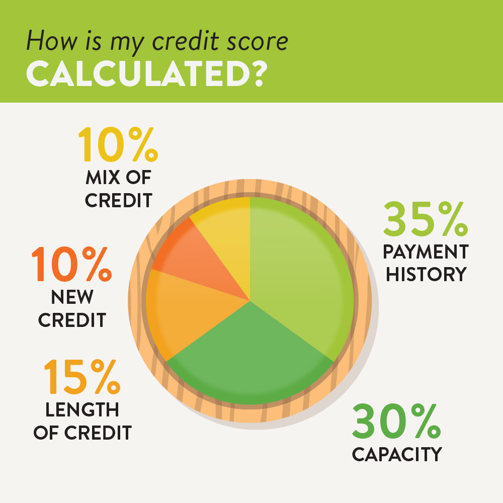How is my credit score calculated